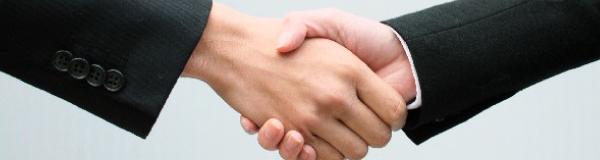 握手バナー